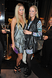 Left to right, ANYA BARKER and EMILY STEEL at a private view of an exhibition 'Outside in Chelsea' held at Annoushka, 41 Cadogan Gardens, London SW3 on 2nd October 2012.