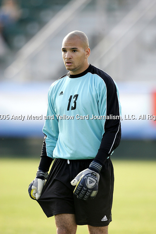 BC backup goalkeeper Shane Boggis entered the game in the 55th minute on Tuesday, November 8th, 2005 at SAS Stadium in Cary, North Carolina. The Wake Forest Demon Deacons defeated the Boston College Eagles 4-0 during their Atlantic Coast Conference Tournament Play-In game.