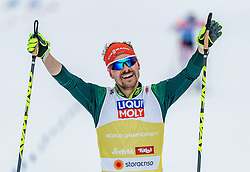24.02.2019, Seefeld, AUT, FIS Weltmeisterschaften Ski Nordisch, Seefeld 2019, Nordischen Kombination, Teambewerb, Langlauf, im Bild Fabian Riessle (GER) // Fabian Riessle of Germany during the cross country for the team competition Nordic Combined of FIS Nordic Ski World Championships 2019 at the Seefeld, Austria on 2019/02/24. EXPA Pictures © 2019, PhotoCredit: EXPA/ Stefan Adelsberger