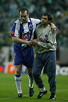 LISBOA- 31 JANEIRO:Jogo da XXº jornarda da Super Liga entre o Sporting C.P. e o F.C.Porto 31-01-04 21:00 no estádio Alvalade XXI.<br />(PHOTO BY: AFCD/GERARDO SANTOS)