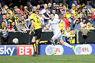 Burton Albion defender Tom Flanagan (2) and Leeds United defender Luke Ayling (2) during the EFL Sky Bet Championship match between Burton Albion and Leeds United at the Pirelli Stadium, Burton upon Trent, England on 22 April 2017. Photo by Richard Holmes.