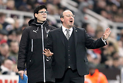 Newcastle United manager Rafael Benitez gestures on the touchline during the Premier League match at St James' Park, Newcastle.