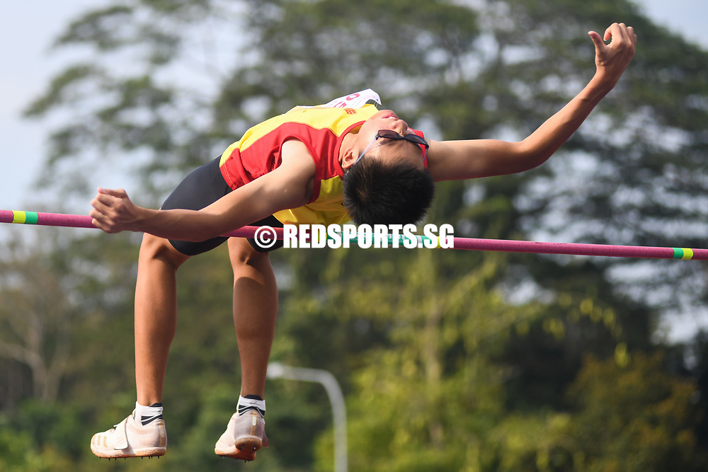 Abel Lee of HCI also finished joint-fourth with a final height of 1.76 metres. (Photo 1 © Stefanus Ian/Red Sports)
