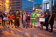 Ocean Avengers Demand EU Prime Ministers End Overfishing and delivered over 1,000 personal messages from EU citizens, and a petition with over 470,000 signatures calling for an end to overfishing, to Ms Sarah Nelen, Deputy Head of Cabinet for EU Commission Executive Vice-President Frans Timmermans, and to Ms Riitta Rahkonen, representative from the Finnish Presidency of the EU Council, on behalf of European citizens and a coalition of environmental NGOs – Our Fish, Seas at Risk, Fisheries Secretariat, ClientEarth and Sciaena.<br /> <br /> <br /> <br /> Poseidon, god of the sea, Captain Science, Climate X, Citizen Fish and Lady Justice arrive in Brussels to ask EU Prime Ministers - meeting at EU Council - to put fisheries ministers on track ahead of next week's AGRIFISH meeting. Fisheries ministers are expected to agree fishing beyond scientific limits, in contravention of the reformed common fisheries policy.
