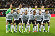 The Germany team line up during the International Friendly match between Germany and England at Signal Iduna Park, Dortmund, Germany on 22 March 2017. Photo by Phil Duncan.