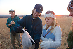 ill & Emma Checking Small Mammal Traps