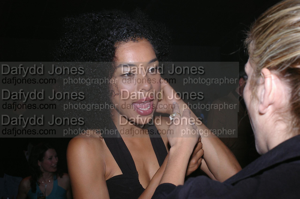 Sophie Okonedo. Glamour Women Of The Year Awards 2005, Berkeley Square, London.  June 7 2005. ONE TIME USE ONLY - DO NOT ARCHIVE  © Copyright Photograph by Dafydd Jones 66 Stockwell Park Rd. London SW9 0DA Tel 020 7733 0108 www.dafjones.com
