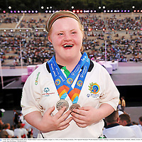 4 July 2011; Team Ireland double Silver Medal winner Ciara O'Loughlin, Inagh, Co. Clare, at the closing ceremony. 2011 Special Olympics World Summer Games, Closing Ceremony, Panathenaikon Stadium, Athens, Greece. Picture credit: Ray McManus / SPORTSFILE