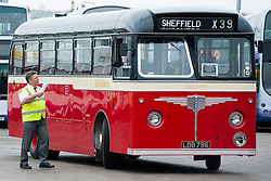 Getting back on the road and taking passengers just one of the Vintage buses which could be found at the Olive Grove Bus bus depot open day on Saturday..12 May 2013.Image © Paul David Drabble