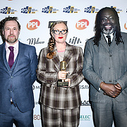 MPG speacail recognition is awards Winner Pamela Mccormick of urban development of The Music Producers Guild Awards at Grosvenor House, Park Lane, on 27th February 2020, London, UK.