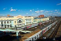 Russie, SIberie, Bouriatie, Oulan Oude, Gare ferroviaire sur le trajet du transsiberien // Russia, Siberia, Buryatia Republic, Oulan Oude, Trans-siberian railway station
