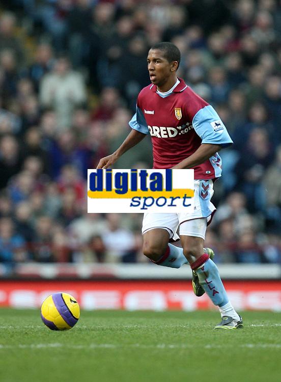 Photo: Rich Eaton.<br /> <br /> Aston Villa v West Ham. The Barclays Premiership. 03/02/2007. Ashley Young pictured on his Aston Villa debut at Villa Park