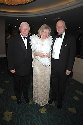 Left to right,  SIR DONALD GOSLING and MR & MRS JOHN ANDREWES at the Boodles Big Bash in support of The Outward Bound Trust held at The Hilton, Park Lane, London on 22nd February 2007.<br /><br />NON EXCLUSIVE - WORLD RIGHTS