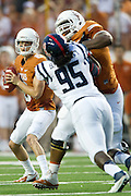 AUSTIN, TX - SEPTEMBER 14: Case McCoy #6 of the Texas Longhorns drops back to throw a pass against the Mississippi Rebels on September 14, 2013 at Darrell K Royal-Texas Memorial Stadium in Austin, Texas.  (Photo by Cooper Neill/Getty Images) *** Local Caption *** Case McCoy