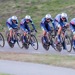 27-09-2016: Wielrennen: Olympia Tour: Hardenberg<br />HARDENBERG (NED) wielrennen<br />Nederlands oudste wielerkoers ging van start in Hardenberg met een ploegentijdrit. SEG racing acadamy