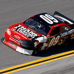 April 17, 2011; Talladega, AL, USA; NASCAR Sprint Cup Series driver Landon Cassill (09) during the Aarons 499 at Talladega Superspeedway.   Mandatory Credit: Derick E. Hingle
