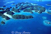 aerial view of Rock Islands, Palau ( Belau ), Micronesia ( Western Pacific Ocean )