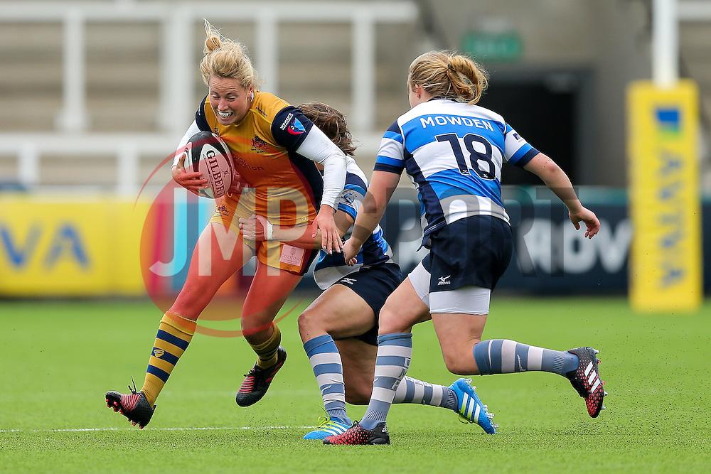 Amber Reed (capt) of Bristol Ladies - Rogan Thomson/JMP - 08/10/2016 - RUGBY UNION - Kingston Park - Newcastle, England - Darlington Mowden Park Sharks v Bristol Ladies Rugby - RFU Women's Premiership.