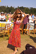 Myleene Klass. Veuve Clicquot Gold Cup Final at Cowdray Park. Midhurst. 17 July 2005. ONE TIME USE ONLY - DO NOT ARCHIVE  © Copyright Photograph by Dafydd Jones 66 Stockwell Park Rd. London SW9 0DA Tel 020 7733 0108 www.dafjones.com