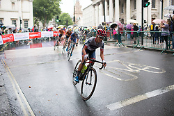 Ashleigh Moolmann-Pasio (RSA) of Cervélo-Bigla Cycling Team leads the peloton during the Prudential Ride London Classique - a 66 km road race, starting and finishing in London on July 29, 2017, in London, United Kingdom. (Photo by Balint Hamvas/Velofocus.com)