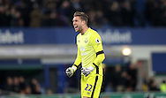 Maarten Stekelenburg celebrates as Leighton Baines of Everton celebrates scoring a penalty during the Premier League match at Goodison Park, Liverpool. Picture date: December 4th, 2016.Photo credit should read: Lynne Cameron/Sportimage