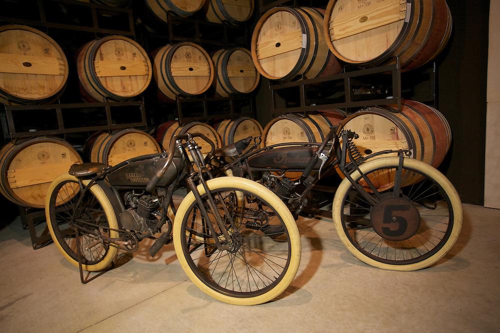 Harley Davidson and Indian motorcycles
