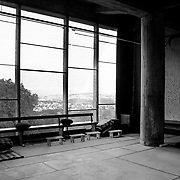 Éveux, France, Alvernia-Rodano-Alpi, 2002: Interior view of the common room of the priests ((West view), Sainte Marie de La Tourette Convent (1946) - Le Corbusier arch - Visit Shop Images to purchase and download a digital file and explore other AS images archive. Photographs by Alejandro Sala