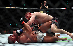 10.04.2016, Arena, Zagreb, CRO, UFC Fight Night, im Bild Igor Pokrajac vs. Jan Blachowicz. // during the UFC Fight Night at the Arena in Zagreb, Croatia on 2016/04/10. EXPA Pictures © 2016, PhotoCredit: EXPA/ Pixsell/ Slavko Midzor<br /> <br /> *****ATTENTION - for AUT, SLO, SUI, SWE, ITA, FRA only*****