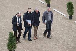 Jury, Jan van Haverbeke, Patrick Oelbrandt, Lieven Tinel, Boudewijn Schepers<br /> BrP Keuring <br /> Hulsterlo - Meerdonk 2017<br /> © Hippo Foto - Dirk Caremans<br /> 17/03/2017