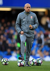"""Middlesbrough First Team Coach Paul Jenkins during the Premier League match at Stamford Bridge, London. PRESS ASSOCIATION Photo. Picture date: Monday May 8, 2017. See PA story SOCCER Chelsea. Photo credit should read: Mike Egerton/PA Wire. RESTRICTIONS: EDITORIAL USE ONLY No use with unauthorised audio, video, data, fixture lists, club/league logos or """"live"""" services. Online in-match use limited to 75 images, no video emulation. No use in betting, games or single club/league/player publications."""