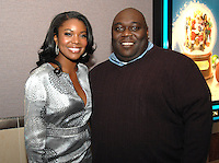 "Gabrielle Union and Faizon Love arriving for a screening of the movie, ""A Perfect Holiday"" in Washington, DC on December 4, 2007"