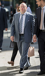 © Licensed to London News Pictures. 15/05/2018. London, UK. Russian billionaire Vladimir Potanin arrives at the Rolls Building of the High Court. Billionaire Oleg Deripaska is challenging the sale of shares in Nornickel by Chelsea football club owner Roman Abramovich to Mr Potanin.  Photo credit: Peter Macdiarmid/LNP