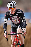SHOT 1/12/14 12:42:48 PM - Peter Goguen (#56) of Hopedale, Ma. competes in the Men's 17-18 Race in the 2014 USA Cycling Cyclo-Cross National Championships at Valmont Bike Park in Boulder, Co. Goguen won the race with a time of 40:13. (Photo by Marc Piscotty / © 2014)