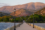 De Bosset Bridge (formerly Drapano Bridge) is a stone bridge built in 1813 over the bay of Argostoli in Kefalonia. At 689.9 meters, it is the longest stone bridge over the sea in the world.