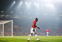 Anthony Martial of Manchester United under the floodlights at Old Trafford - Mandatory by-line: Matt McNulty/JMP - 31/10/2017 - FOOTBALL - Old Trafford - Manchester, England - Manchester United v Benfica - UEFA Champions League Group A