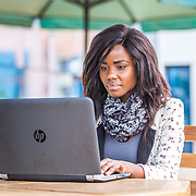 INDIVIDUAL(S) PHOTOGRAPHED: Brenda Akinyi. LOCATION: Shortlist Office, Daykio Plaza, Ngong Road, Nairobi, Kenya. CAPTION: Brenda catches up on her emails on a busy Monday morning at Shortlist's Nairobi office.