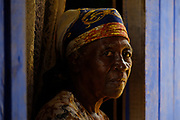Portrait of Dona Adelaide, living at the old slave quarter in Roça Sundy, Príncipe island.