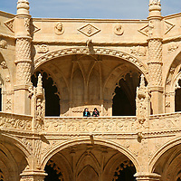 Europe, Portugal, Lisbon. two-level cloisters of Jerónimos Monastery in the district of Belem, a UNESCO World Heritage site.