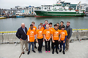 02/07/2017 REPRO FREE: <br /> Young sailors from Safe Haven Ireland  at SeaFest in Galway on the eve of their next sail training voyage onwards to Limerick. Safe Haven Ireland is a not-for-profit organisation providing integration opportunities in Ireland and sailing for all. Also Pictured are John Killeen Chair of Seafest, Brian O'Loughlin Youth leader, Victor Spingbok Watch leader, Shauna Gillan CEO Safe Haven Ireland,  and Dr. Peter Heffernan CEO Marine Institute . Photo:Andrew Downes, xposure .