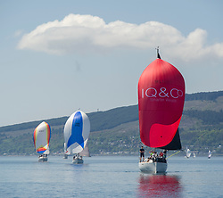 Day 3 Scottish Series, SAILING, Scotland.<br /> <br /> Class 3, Final Call, Beneteau First 31.7,  IRL1003<br /> <br /> The Scottish Series, hosted by the Clyde Cruising Club is an annual series of races for sailing yachts held each spring. Normally held in Loch Fyne the event moved to three Clyde locations due to current restrictions. <br /> <br /> Light winds did not deter the racing taking place at East Patch, Inverkip and off Largs over the bank holiday weekend 28-30 May. <br /> <br /> Image Credit : Marc Turner / CCC