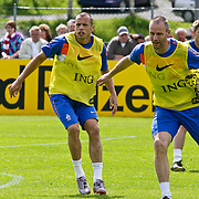 AUS/Seefeld/20100530 - Training NL Elftal WK 2010, John Heitinga en Andre Ooijer