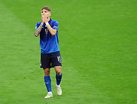 Football - UEFA European Championship 2021 - Round of 16 - Italy vs Austria - Wembley Stadium<br /> <br /> Ciro Immobile of Italy sees his shot hit the post in the first half<br /> <br /> Credit : COLORSPORT/ANDREW COWIE