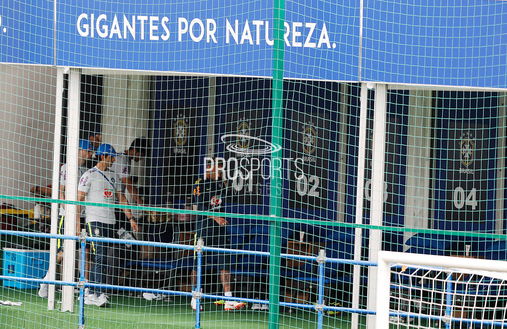 Neymar left Brazil training on Tuesday after just 15 minutes with a right ankle injury on June 19, 2018 at Yug-Sport Stadium in Sochi, Russia - Photo Tarso Sarraf / FramePhoto / ProSportsImages / DPPI