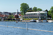 Henley on Thames. United Kingdom.   View of the Phyllis Court Club  Grandstand.  Thursday  17/05/2018<br /> <br /> [Mandatory Credit: Peter SPURRIER:Intersport Images]<br /> <br /> LEICA CAMERA AG  LEICA Q (Typ 116)  f5  1/1000sec  35mm  42.5MB
