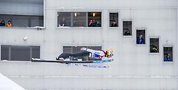 31.12.2014, Olympiaschanze, Garmisch Partenkirchen, GER, FIS Ski Sprung Weltcup, 63. Vierschanzentournee, Qualifikation, im Bild Thomas Diethart (AUT) // during qualification Jump of 63rd Four Hills Tournament of FIS Ski Jumping World Cup at the Olympiaschanze, Garmisch Partenkirchen, Germany on 2014/12/31. EXPA Pictures © 2014, PhotoCredit: EXPA/ JFK
