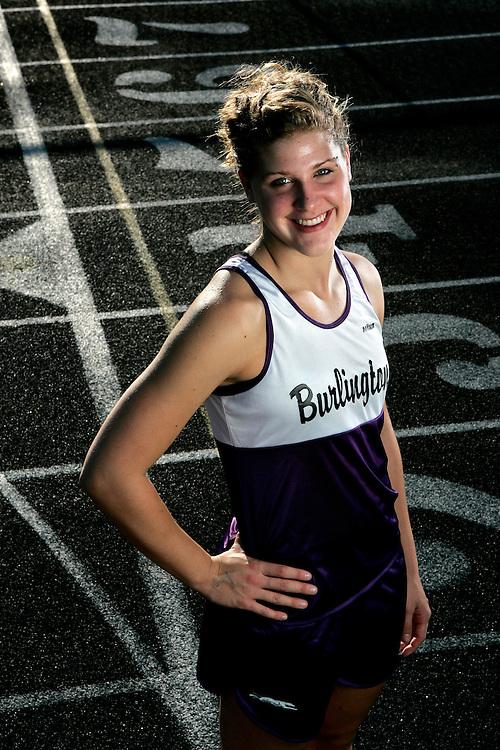 Burlington high school runner Jenna Caffrey.Scott Morgan | The Hawk Eye