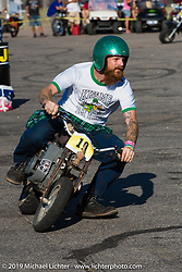 Jeremy Cupp in the minibike races Saturday afternoon at the Smokeout. Rockingham, NC. USA. June 20, 2015.  Photography ©2015 Michael Lichter.