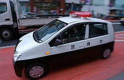 Carro de polícia em Tókio. FOTO: Jefferson Bernardes/Preview.com