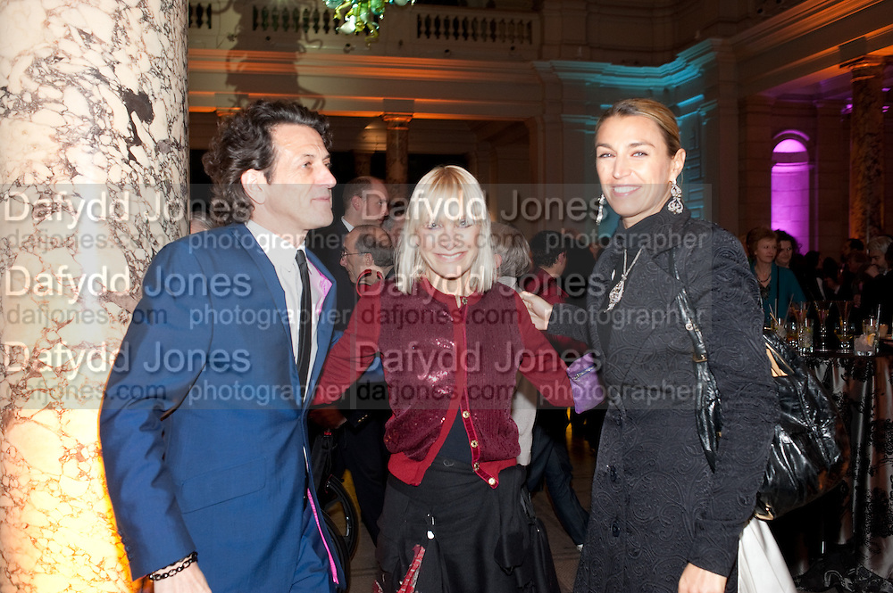 STEPHEN WEBSTER; VIRGINIA BATES; ASSIA WEBSTER, Cecil Beaton private view. V and A Museum. London. 6 February 2012