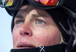 February 12, 2018 - Pyeongchang, South Korea - A teary eyed Holy Crawford of Australia looks to the score board after her attempt in the Ladies Halfpipe Qualification Round 2 at the 2018 Pyeongchang Winter Olympics. (Credit Image: © Daniel A. Anderson via ZUMA Wire)